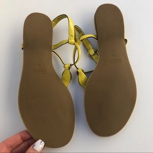 Coach Shoes - NWOT Coach Robyn yellow leather lock sandal 8B